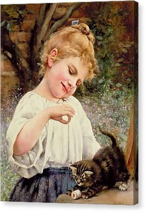 The Playful Kitten Canvas Print by Leo Malempre