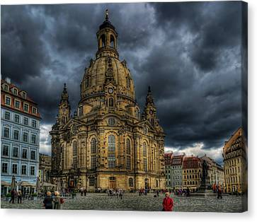 The Plaza In Dresden Canvas Print by Mountain Dreams