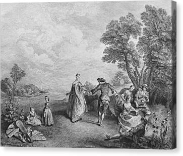 The Pleasures Of The Countryside Canvas Print by Nicolas Lancret