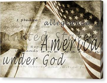 The Pledge Of Allegiance And An Canvas Print by Chris and Kate Knorr