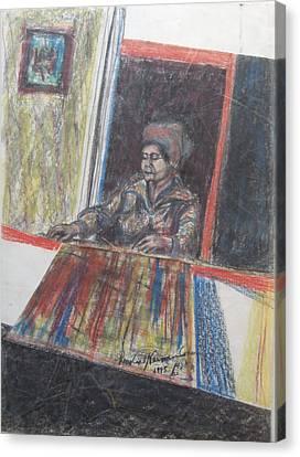 The Poetess Zelda Canvas Print by Esther Newman-Cohen