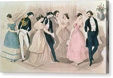 The Polka Fashions Canvas Print by English School