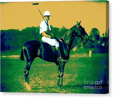 The Polo Player - 20130208 Canvas Print by Wingsdomain Art and Photography