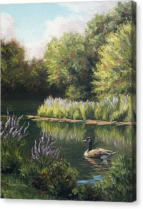 The Pond Canvas Print by Lucie Bilodeau