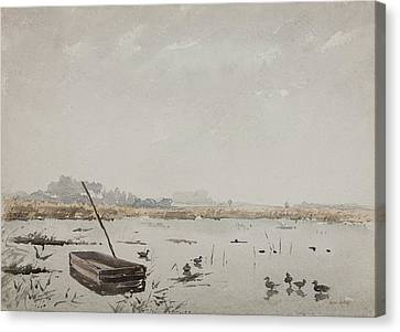 The Pond  Canvas Print by Henri Duhem