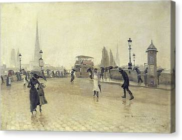 The Pont Corneille, Rouen, 1891 Oil On Canvas Canvas Print by Leon Lemaitre