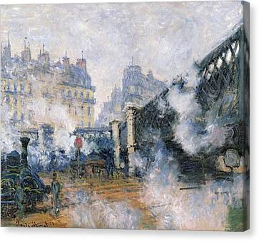 The Pont De L'europe Canvas Print by Claude Monet