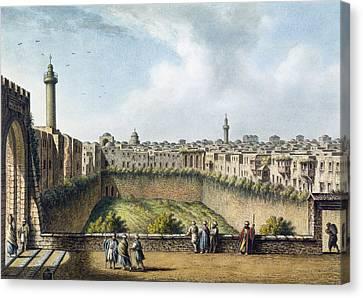 The Pool Of Bethesda, Jerusalem, Pub Canvas Print by Luigi Mayer