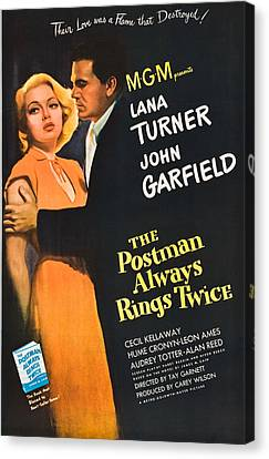 The Postman Always Rings Twice - 1946 Canvas Print by Georgia Fowler