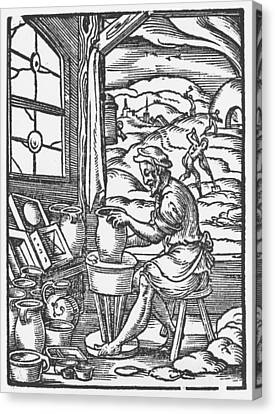 The Potter, 1574 Canvas Print by Jost Amman