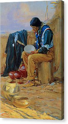 The Pottery Maker Canvas Print by Gerald Cassidy