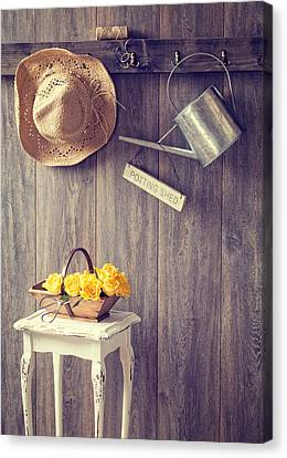 The Potting Shed Canvas Print by Amanda And Christopher Elwell