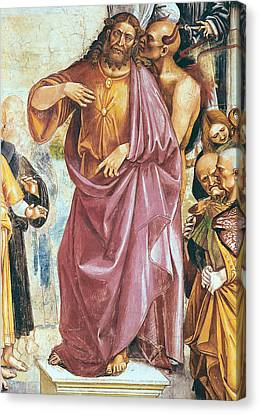 The Preaching Of The Antichrist Canvas Print by Luca Signorelli