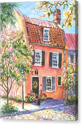The Precious Pink House Canvas Print by Alice Grimsley