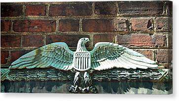 The Presidential Eagle Guards Dumbarton House Canvas Print by Cora Wandel