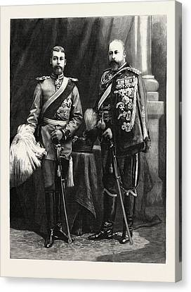 The Prince Of Wales And Prince George Of Wales Canvas Print by German School