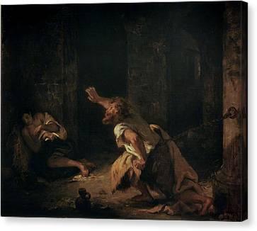 The Prisoner Of Chillon Canvas Print by Ferdinand Victor Eugene Delacroix