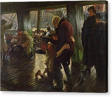 The Prodigal Son In Modern Life Canvas Print by James Jacques Joseph Tissot