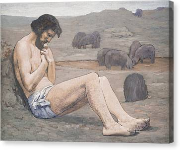 The Prodigal Son Canvas Print by Pierre Puvis de Chavannes