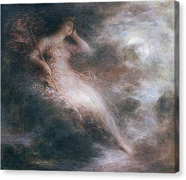 The Queen Of The Night Canvas Print by Ignace Henri Jean Fantin-Latour