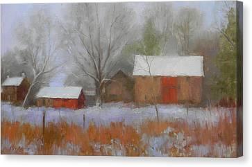The Quiet Farm Bucks County Canvas Print by Kit Dalton
