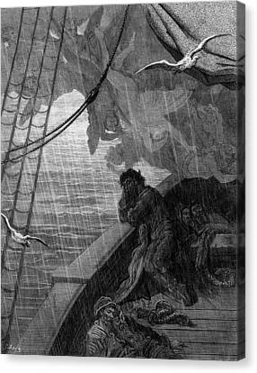 The Rain Begins To Fall Canvas Print by Gustave Dore