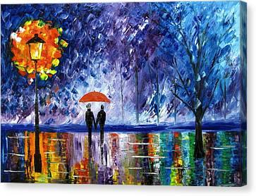 The Rain Canvas Print by Mariana Stauffer
