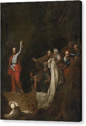 The Raising Of Lazarus Canvas Print by Celestial Images