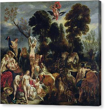 The Rape Of Europa, 1643 Oil On Canvas Canvas Print by Jacob Jordaens
