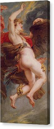The Rape Of Ganymede Canvas Print by Rubens