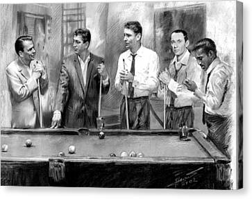 The Rat Pack Canvas Print by Viola El