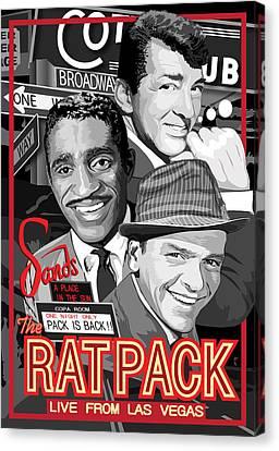 The Rat Pack Poster Canvas Print by Dagmara Czarnota