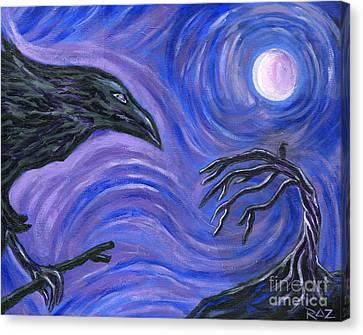 The Raven Canvas Print by Roz Abellera Art