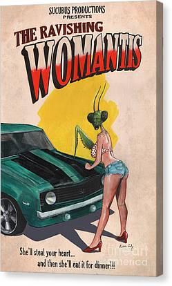 The Ravishing Womantis Canvas Print by Richardson Comly