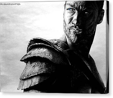 The Real Spartacus Andy Whitfield Canvas Print by Mike Sarda