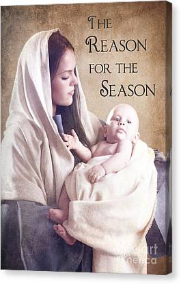 The Reason For The Season Canvas Print by Cindy Singleton
