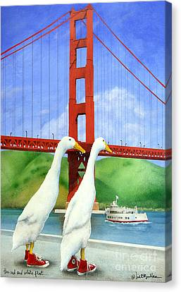 The Red And White Fleet... Canvas Print by Will Bullas