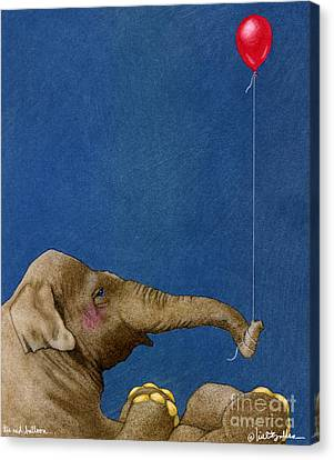 The Red Balloon... Canvas Print by Will Bullas