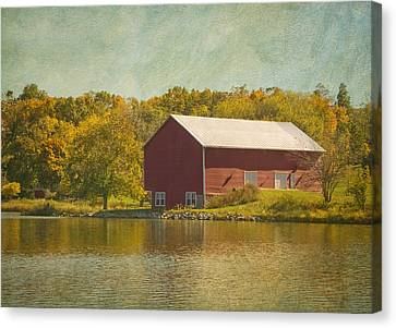 The Red Barn Canvas Print by Kim Hojnacki