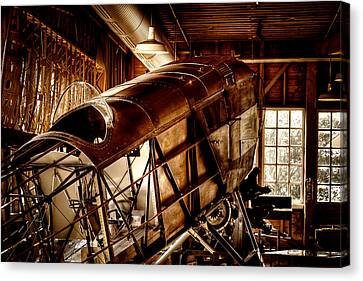 The Red Barn Of The Boeing Company II Canvas Print by David Patterson