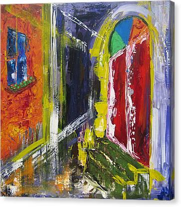 The Red Door Canvas Print by Khalid Alzayani