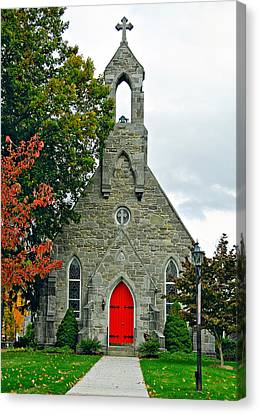 The Red Door Canvas Print by Steve Harrington