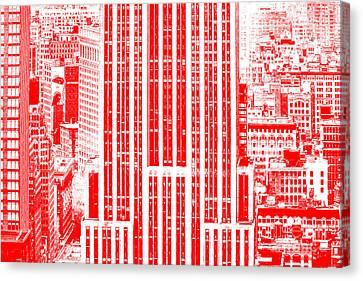 The Red Empire Canvas Print by Az Jackson