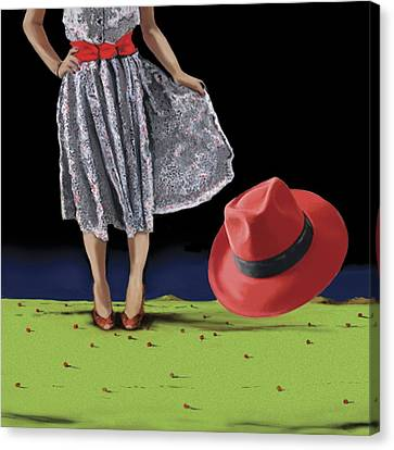 The Red Hat, 2008 Canvas Print by Marjorie Weiss
