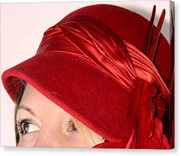 The Red Hat Canvas Print by  Andrea Lazar