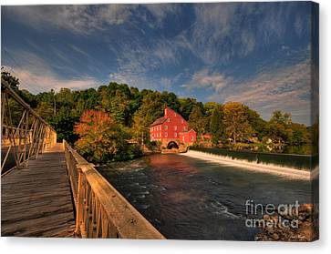 The Red Mill Canvas Print by Paul Ward