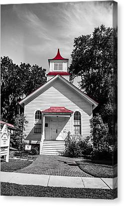 The Red Steeple Canvas Print by Steven  Taylor