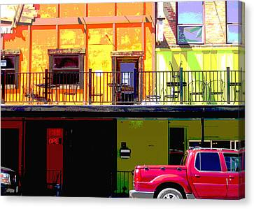 The Red Truck Canvas Print by Ann Powell