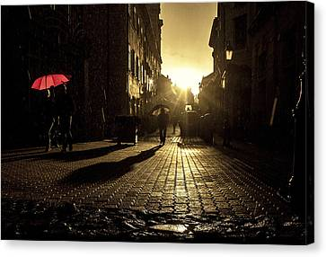 The Red Umbrella Canvas Print by Christian  Svastits