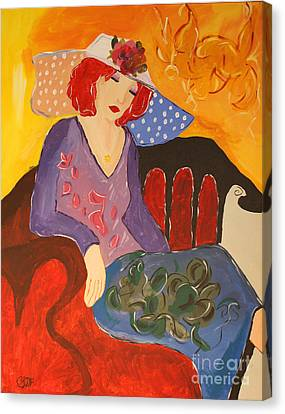 The Redhead Canvas Print by Christine  Dekkers